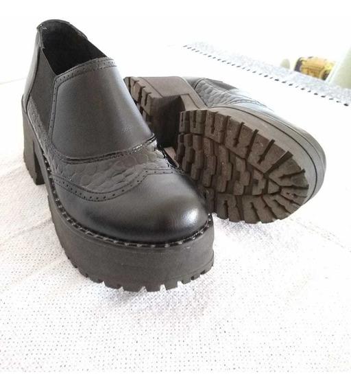 Zapato Con Plataforma - Ecocuero