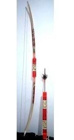 Arco E Flecha + Lança Indio Exclusivo Rústico Decoraçao