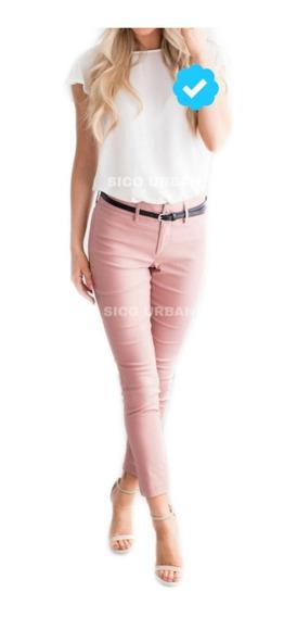 Pantalon Bengalina Chupin Elastizado Chupin Mujer Colores