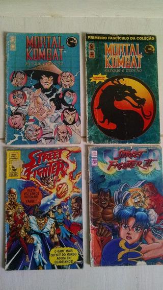 Gibis Mortal Kombat E Street Fight (lote 4 Exemplares)
