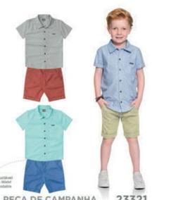Conjunto Masculino Mundi - Camisa E Bermuda Sarja