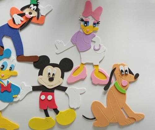 La Casa De Mickey Mouse Minnie Apliques En Goma Eva 20 Cm