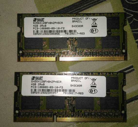 2 Memoria Ddr 3 4gb Para Notebook