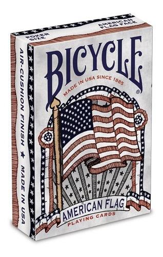 Baraja Naipe Cartas American Flag Bicycle Originales
