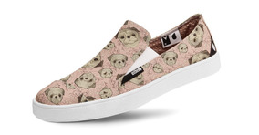 Tênis Casual Slip On Vegano Pug Art Usthemp
