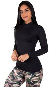 Camisa Térmica Feminina Segunda Pele Praia Surf Proteção Uv