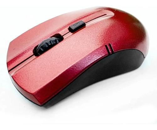 Mouse Sem Fio 2.4ghz Wireless X Zhang - Cor Vermelha