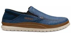 Zapato Crocs Caballero Santa Cruz Playa Slip-on Mezclilla