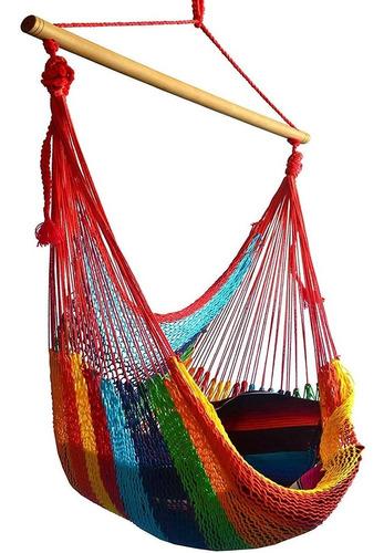 Imagen 1 de 10 de Silla Hamaca Colgante En Columpio Huevo Multicolor