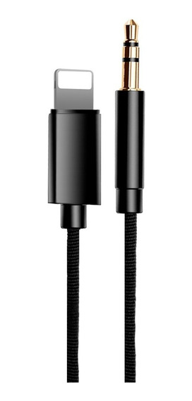 Cabo Auxiliar 3.5 Para iPhone 7/plus/ iPad / iPod 1m Black