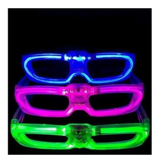 Gafas Lentes Led Iluminadas Fluorescentes Fiestas Y Eventos