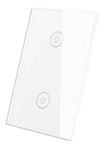 Apagador Switch Inteligente Wifi De 2 Via Touch Google Alexa