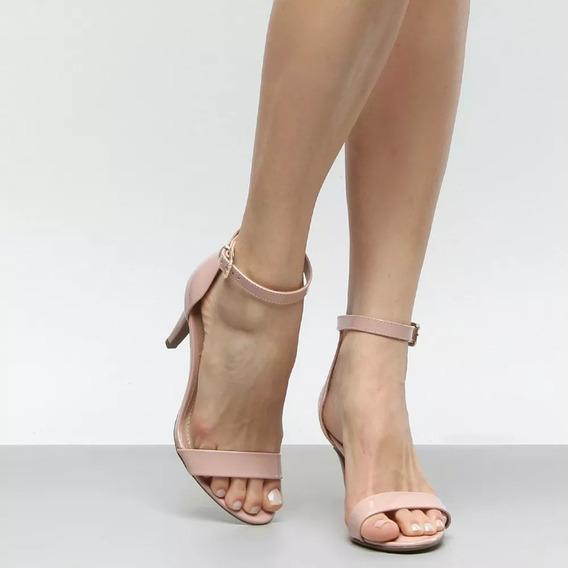 Sandália Salto Fino Verniz Marca - Bebecê