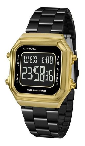 Relógio Digital Feminino Lince Preto Sdg618lpxpx