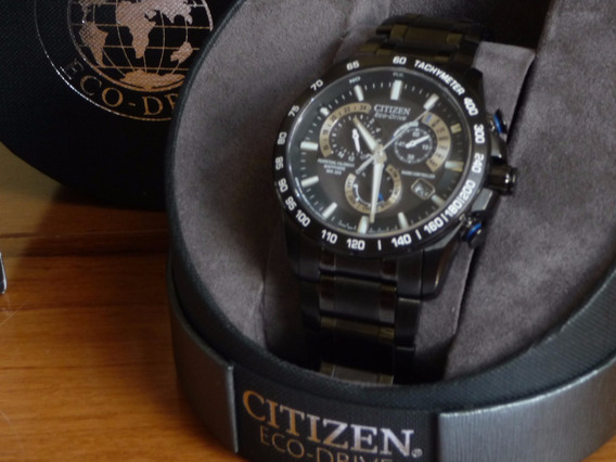 Relógio Citizen Eco Drive Super Titanium Gps Radio+nf+caixa