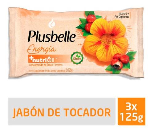 Jabon De Tocador Plusbelle Energia Renovada 3 Un X 125 Gr