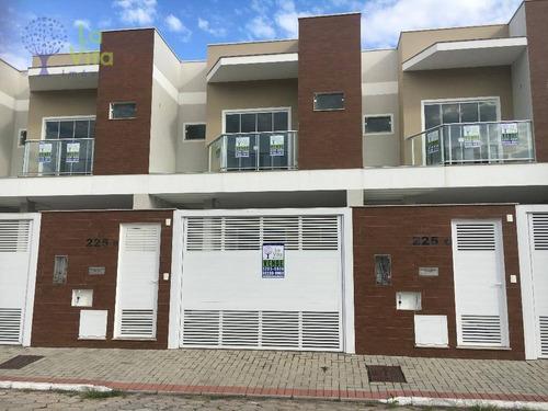 Casa, Sobrado Novo À Venda, Semi-mobiliado Com 3 Quartos, 1 Suite, 141m² Área Construída, Bairro Bela Vista, Gaspar Sc - Ca0266