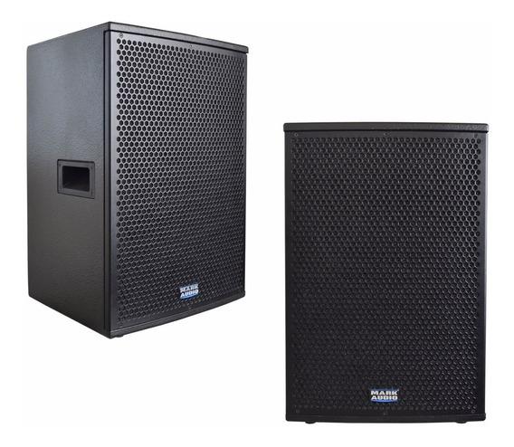 Kit Com 02 Caixas Som Ativa Mark Audio Ca1200 Af15 Pol 500w
