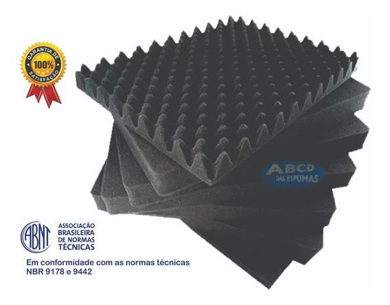 Espuma Acústica C. O. - 20 Placas - 50x50x2cm - Antichamas