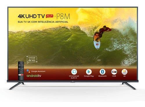 Smart Tv 4k Tcl Led 55 Comando De Voz E Wi-fi - 55p8m