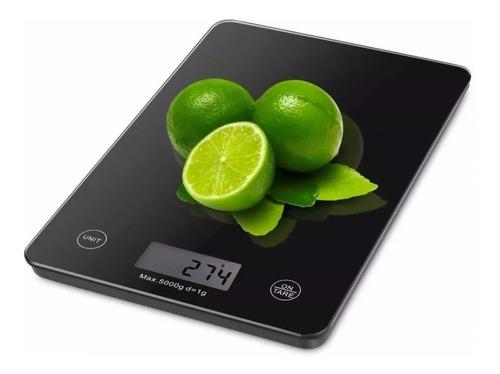 Balanza Pesa Digital Gramera De Cocina Vidrio Slim 1g - 5kg