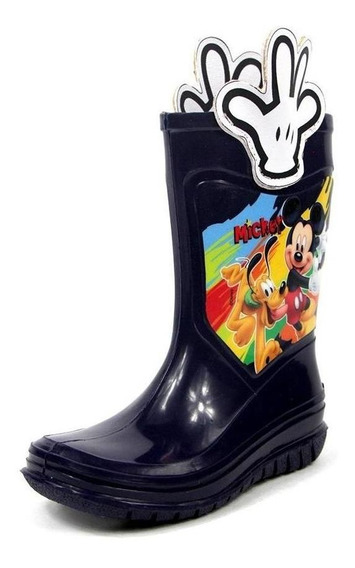 Botas Para Niño De Lluvia Full Plastic Disney Mickey Mouse