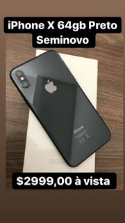 Celular iPhone X 64 Gb