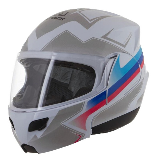 Capacete De Moto Fechado Masculino Branco/fosco Pro Tork 56
