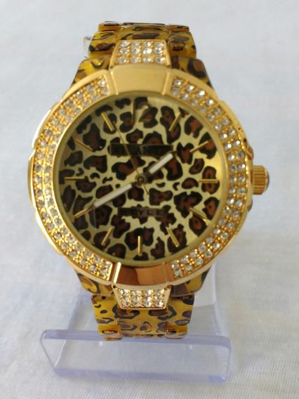 Relógio Feminino Dourado Atlântis G-3176 Original