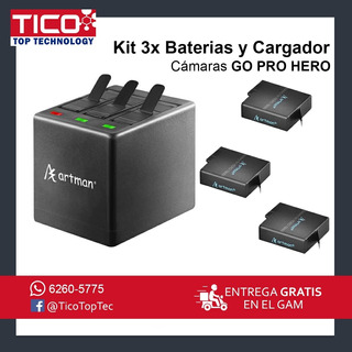 Kit Cargador Y Baterias Gopro Hero 5 6 Y 7