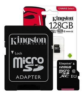 Memoria Micro Sd Kingston 128gb Clase 10 80mb/s Microsd Gtia
