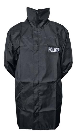 Piloto Capa De Lluvia Policía Impermeable Con Capucha