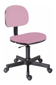 Cadeira Secretaria Rosa Giratoria S/braço