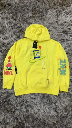 maceta luto empleo  Sudadera Hoodie Nike Kyrie X Bob Esponja Amarilla Original | Mercado Libre