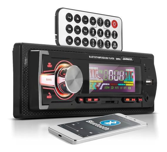 Rádio Automotivo Bluetooth Briwax Saída De Som Amplificada