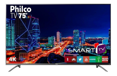 Imagem 1 de 4 de Tv 4k Led 75  Netflix Philco Bivolt Ptv75e30dswnt