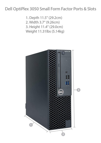 Dell Optiplex 3050 Sff Core I3 7th 4gb Ram 500hd Top