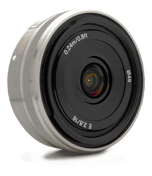 Objetiva Lente Sony 16mm F/2.8 E-mount - Impecável