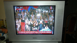 Tv Televisor De Tubo Pantalla Plana 21 Firstline Control Nvo