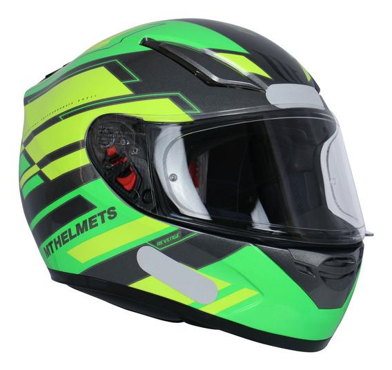 Capacete Mt Helmets Revenge Zusa F3 Gloss Verde Fluorescente