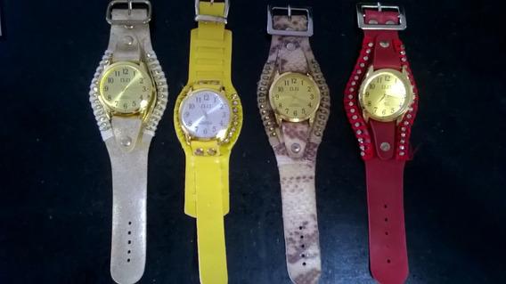 Lindos Relógios Modelos Clássicos 4 Peças Em Couro E Straus