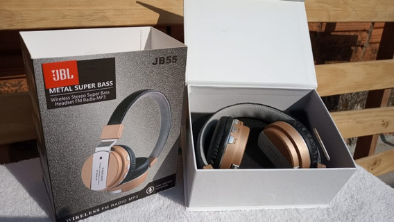 Fone De Ouvido Bluetooth Jb55 Metal Super Bass Wireless
