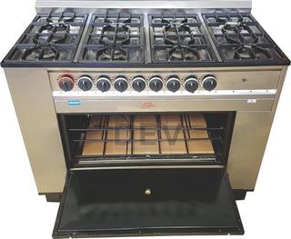 Cocina Industrial 8 Hornallas Tecno Calor 117 Cm Nacional !!