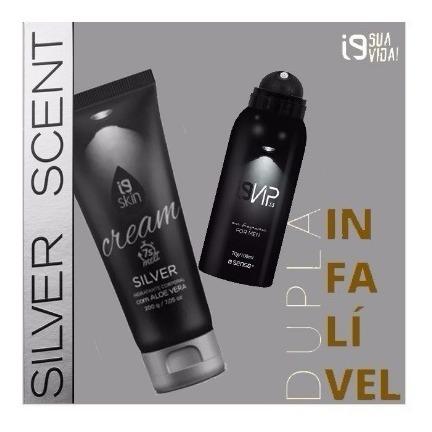 Kit Silver Scent Perfume 100ml + Hidratante Silver Scent