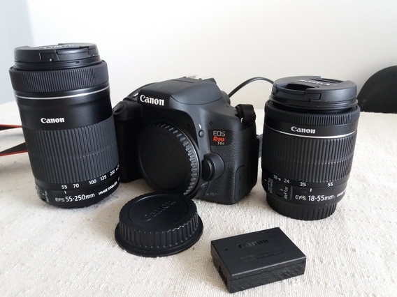 Kit Canon Rebel T6i Premium Com A 18-55mm E 55-250mm