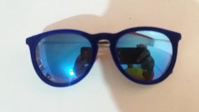 e8f920e2a Kit 2 Óculos Ray-ban Erika Rb4171 De Veludo Espelhado Azul