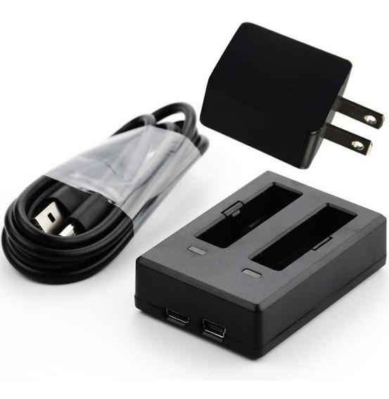 Carregador Duplo P/ Baterias Eken H9r + Cabo Usb + Adaptador