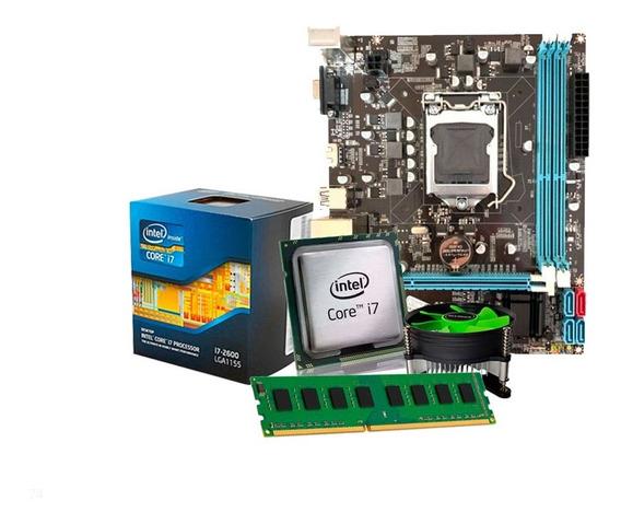 Kit Processador I7 3770 3.9 Ghz + Placa Mãe B75 + 8gb + Nfe
