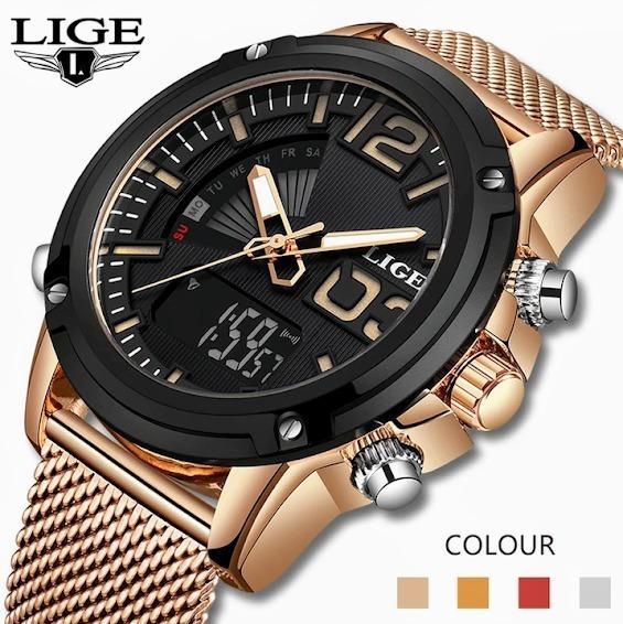 Relógio Masculino Lige 9959 Esportivo Luxo Original Oferta