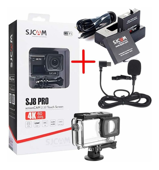 Câmera Sjcam Sj8 Pro Original 4k + Kit Bateria + Microfone